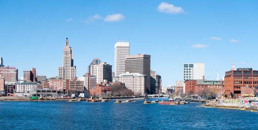 Providence Rhode Island skyline in 2017